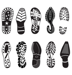 Shoe tracks collection vector