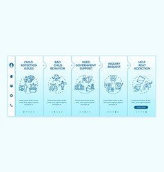 Support for family onboarding template vector