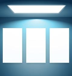 three presentation fram with lights vector image
