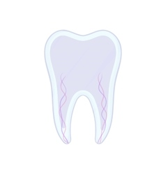 Tooth nerve icon cartoon style vector