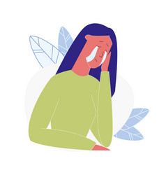 Upset crying woman cartoon vector