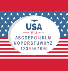 usa independence day poster with national flag vector image