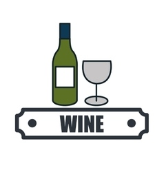 Wine list drink isolated icon vector