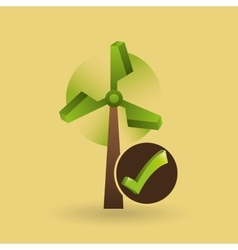 concept ecological icon wind power vector image vector image