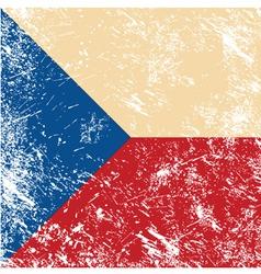 Czech retro flag vector image