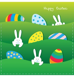 Easter paper card vector image vector image