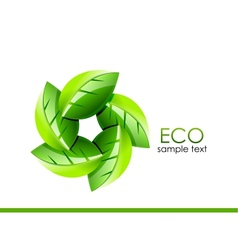 Green leaves Eco concept vector image