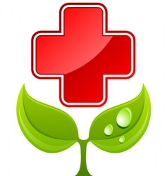 health care sign vector image vector image