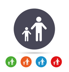 one-parent family with one child sign icon vector image