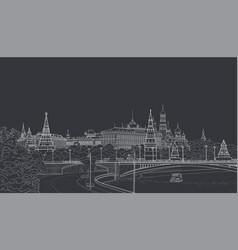 sketch of the moskow kremlin vector image vector image