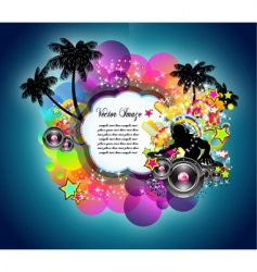 tropical music disco event vector image