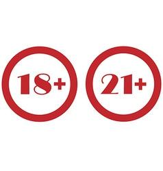 Under twenty one and eighteen vector image vector image