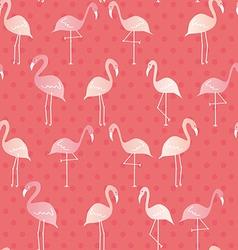 Flamingo pattern vector image
