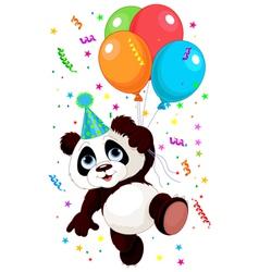 Panda and Balloons vector image vector image