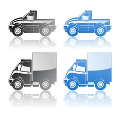 pickup and small truck vector image