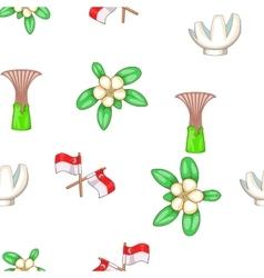 Singapore pattern cartoon style vector image vector image