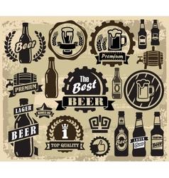 beer pub labels vector image