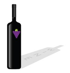 bottle of wine color vector image