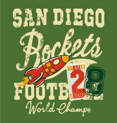 Cute rockets football team vector image vector image