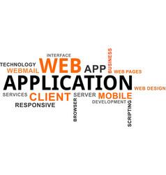 word cloud - web application vector image vector image