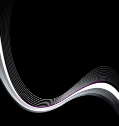 black wave vector image