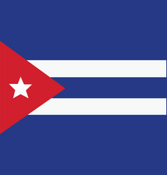 cuba flag for independence day and infographic vector image