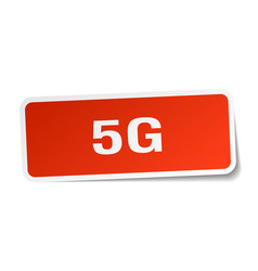 5g square sticker on white vector