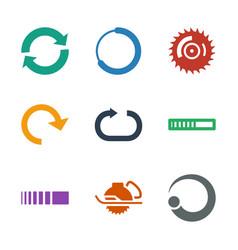 9 circular icons vector