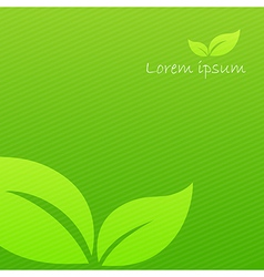 Abstract background green ecology concept with vector image