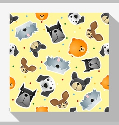 Animal seamless pattern collection with dog 2 vector