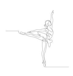Ballerina in motion vector