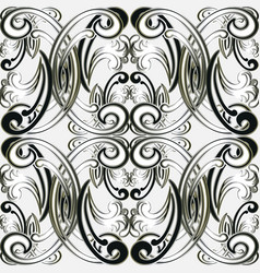 baroque seamless pattern damask ornamental vector image