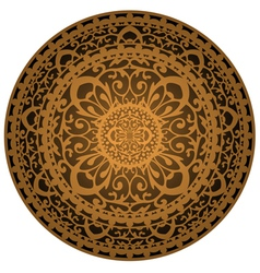 brown rug vector image