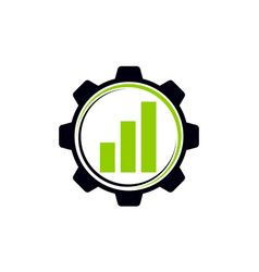 business automation gear vector image