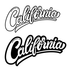 California lettering phrase on white background vector