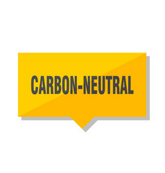 Carbon-neutral price tag vector