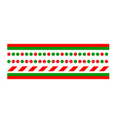 christmas border line set isolated on white vector image
