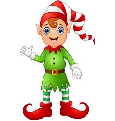 Christmas boy elf cartoon vector
