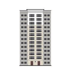 City multistorey house exterior front view vector