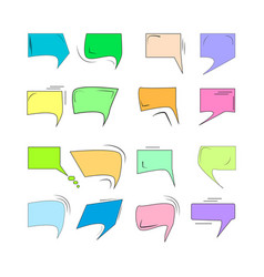 Comics for sound speech effect bubbles isolated on vector