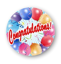 Congratulations celebration with balloon vector image
