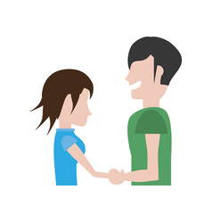 couple romantic hands holding image vector image