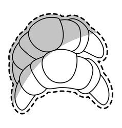 croissant pastry icon image vector image vector image