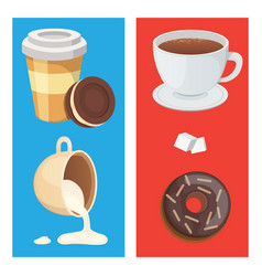 cup of coffee cappuccino latte and chocolate vector image