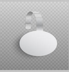 custom advertising wobbler oval shape mockup in vector image