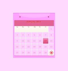 Design schedule monthly february 2014 calendar vector image