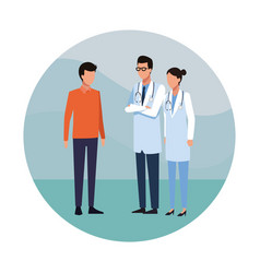 Doctor and people vector
