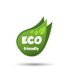 Eco friendly icon flat vector