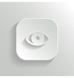 Eye icon - white app button vector image