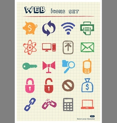 Finance and Internet icons set vector image